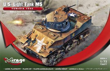 U.S. Light Tank M5 TUNISIA 1942 · MG 726077 ·  Mirage Hobby · 1:72