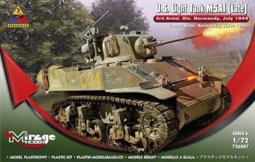 U.S.Light Tank M5A1 (Late) 3rd Armd.DivN · MG 726087 ·  Mirage Hobby · 1:72