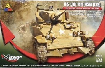 U.S. Light Tank M5A1 (Late) · MG 726088 ·  Mirage Hobby · 1:72