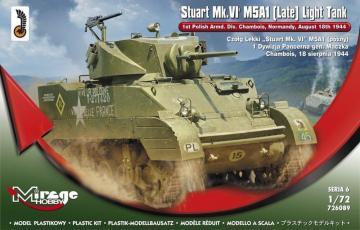 Stuart MK.VI M5A1 (Late) Light Tank · MG 726089 ·  Mirage Hobby · 1:72