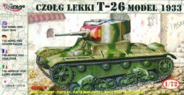 Leichter Panzer T-26 1933 · MG 72609 ·  Mirage Hobby · 1:72