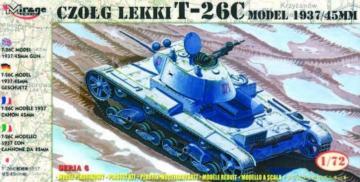 Leichter Panzer T-26 C Modell 1937 mit 45 mm Kanone · MG 72611 ·  Mirage Hobby · 1:72