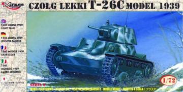 Leichter Panzer T-26 C 1939 · MG 72612 ·  Mirage Hobby · 1:72