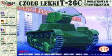 T-26 C mit Zusatzpanzerung · MG 72613 ·  Mirage Hobby · 1:72