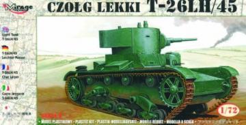 Leichter Panzer T-26 LH/45 · MG 72617 ·  Mirage Hobby · 1:72
