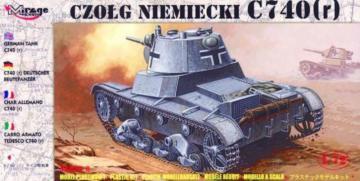 Deutscher Panzer C 740 (r) · MG 72619 ·  Mirage Hobby · 1:72