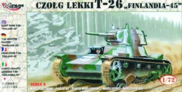 Finnischer Panzer T-26 1945 · MG 72620 ·  Mirage Hobby · 1:72
