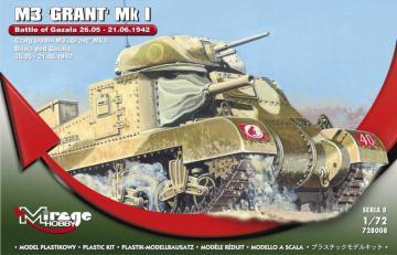 M3 GRANT Mk I Battle of GAZALA -21.06.42 · MG 728008 ·  Mirage Hobby · 1:72
