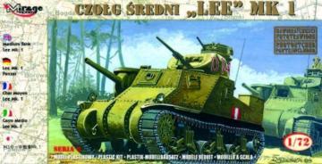 Medium Tank Lee Mk. I · MG 72802 ·  Mirage Hobby · 1:72