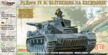 Pz.Kpfw. IVD BLITZKRIEG in the WEST · MG 72854 ·  Mirage Hobby · 1:72