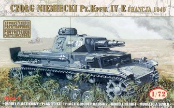 German Tank Pz.Kpfw.IVE France 1940 · MG 72863 ·  Mirage Hobby · 1:72