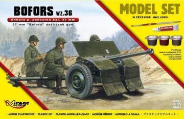 37mm BOFORS wz 36 anti tank gun (ModelSet) · MG 835061 ·  Mirage Hobby · 1:35