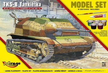 Tankette TKS-B (w/automatic cannon 20mm Mk.38) (Model Set) · MG 835093 ·  Mirage Hobby · 1:35