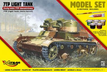 7TP Light Tank Twin Turret (Model Set) · MG 835094 ·  Mirage Hobby · 1:35