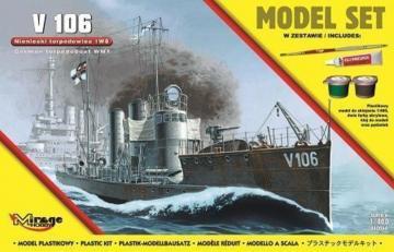 V 106 German WWI Torpedo Ship (Model Set) · MG 840064 ·  Mirage Hobby · 1:400