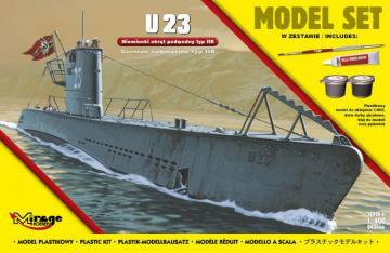 U23 (German Submarine WWII Type IIB (Model Set) · MG 840066 ·  Mirage Hobby · 1:400