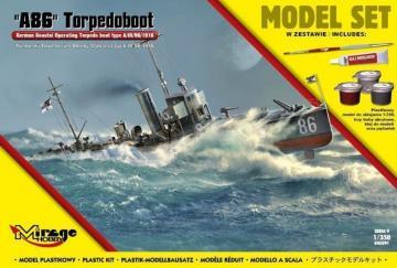 A86 German Torpedoboot (Model Set) · MG 845091 ·  Mirage Hobby · 1:350