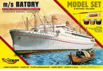 m/s BATORY (Trans-Atlantic Passenger-General Cargo Ship) (Model Set) · MG 850091 ·  Mirage Hobby · 1:500
