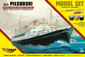m/s PILSUDSKI (Trans-Atlantic Passenger Ship) (Model Set) · MG 850092 ·  Mirage Hobby · 1:500