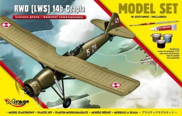 RWD (LWS) 14b CZAPLA (Liaison Plane) Subsonic Interceptor Aircraft · MG 872061 ·  Mirage Hobby · 1:72