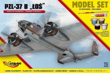 PZL-37 B Los (Polish Bomber Aircraft) Model Set · MG 872092 ·  Mirage Hobby · 1:72