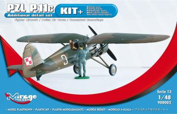 PZL P.11c Fighter Aircraft Polish Air Force (KIT+) · MG 900002 ·  Mirage Hobby · 1:48