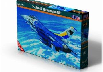 F-16A Block 15 Gunsmoke 85 · MC D33 ·  Mistercraft · 1:72