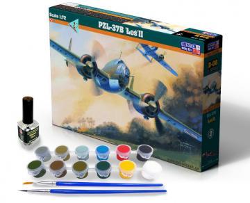 PZL P-37B Los II - Model Set · MC SD08 ·  Mistercraft · 1:72