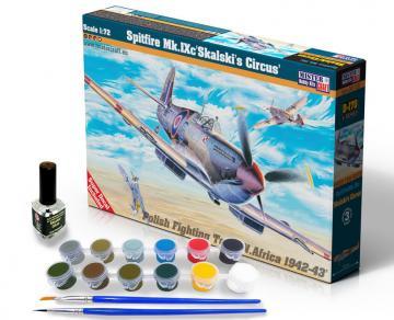 Spitfire Mk.IX Skalski´s Circus - Model Set · MC SD170 ·  Mistercraft · 1:72