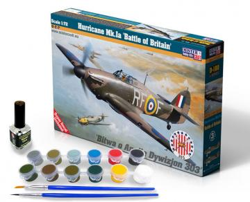 Hurricane Mk.Ia Battle of Britan - Model Set · MC SD180 ·  Mistercraft · 1:72