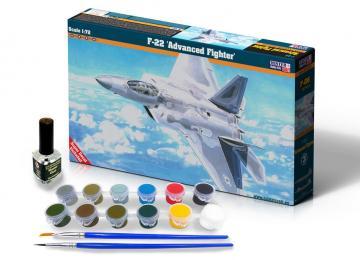 F-22 Advanced Fighter - Model Set · MC SF06 ·  Mistercraft · 1:72
