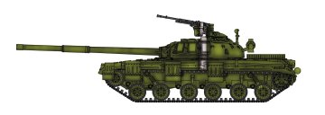Soviet Army T-64 Model 1972 · MOD AS72108 ·  Modelcollect · 1:72
