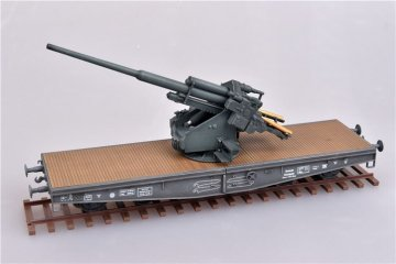 WWII Germany 128mm Flak 40 Anti-Aircraft Railway Car · MOD AS72116 ·  Modelcollect · 1:72