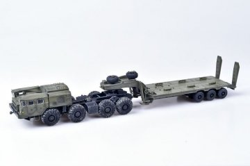 Soviet/Russian Army MAZ-7410 w. ChMZAP-9990 semi-trailer green · MOD AS72145 ·  Modelcollect · 1:72