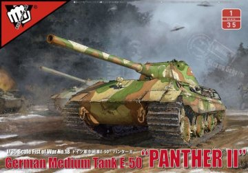 German WWII E-50M Medium Tank with 105mm GUN - Fist of War Series · MOD UA35001 ·  Modelcollect · 1:35