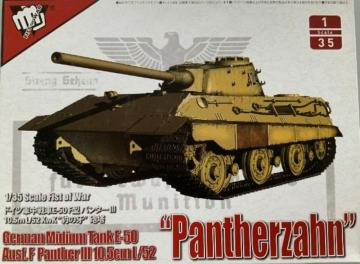 German Middle Tank E-50 mit 10.5cm L/52 Panther III Ausf.F · MOD UA35015 ·  Modelcollect · 1:35