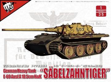 Säbelzahntiger - German Heavy tank E-60 Ausf.A 10.5cm Kwk · MOD UA35020 ·  Modelcollect · 1:35