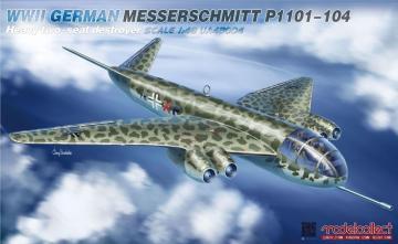 WWII German Messerschmitt P1101-104 - Heavy two-seat destroyer · MOD UA48004 ·  Modelcollect · 1:48