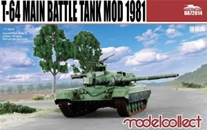 T-64 Main Battle Tank Mod 1981 · MOD UA72014 ·  Modelcollect · 1:72
