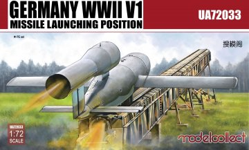 Germany WWII V1 Missile launching positi 2 in 1 · MOD UA72033 ·  Modelcollect · 1:72