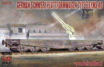 Germany Schwere Plattformwagen type ssyms 80 · MOD UA72043 ·  Modelcollect · 1:72