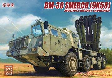 Russia BM-30 Smerch (9K58) multiple rocket launcher · MOD UA72047 ·  Modelcollect · 1:72