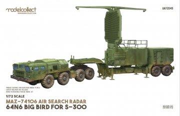 MAZ-74106 air search radar 64N6 BIG BIRD for S-300 camouflage.2010s · MOD UA72049 ·  Modelcollect · 1:72