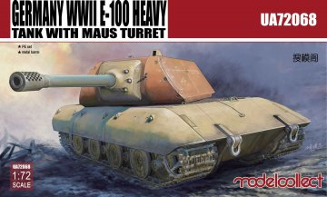 Germany WWII E-100 Heavy Tank with Mouse turret · MOD UA72068 ·  Modelcollect · 1:72