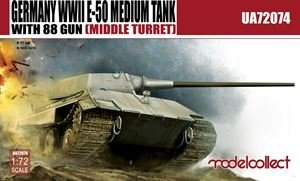 Germany WWII E-50 Medium Tank with 88gun (middle turret) · MOD UA72074 ·  Modelcollect · 1:72