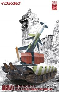 Germany Rheintochter 1 movable Missile launcher with E100 body · MOD UA72076 ·  Modelcollect · 1:72