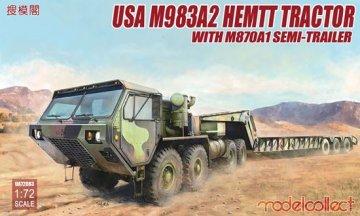 USA M983A2 HEMTT Tractor & M870A1 Semitrailer · MOD UA72083 ·  Modelcollect · 1:72
