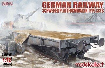 German Railway Schwerer Plattformwagen Type ssys 1+1 pack · MOD UA72086 ·  Modelcollect · 1:72