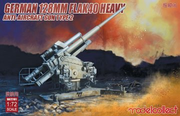 German 128mm Flak40 heavy Anti-Aircraft Gun Type 2 · MOD UA72101 ·  Modelcollect · 1:72