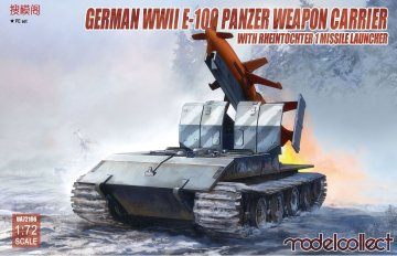 German WWII E-100 panzer weapon carrier with Rheintochter 1 missile launcher · MOD UA72106 ·  Modelcollect · 1:72